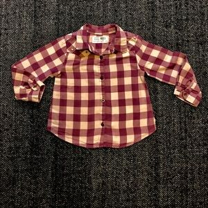 Zara's western style buffalo plaid shirt.